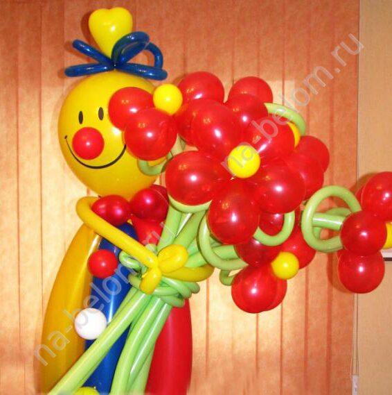 Как сделать фигуру человека из шаров