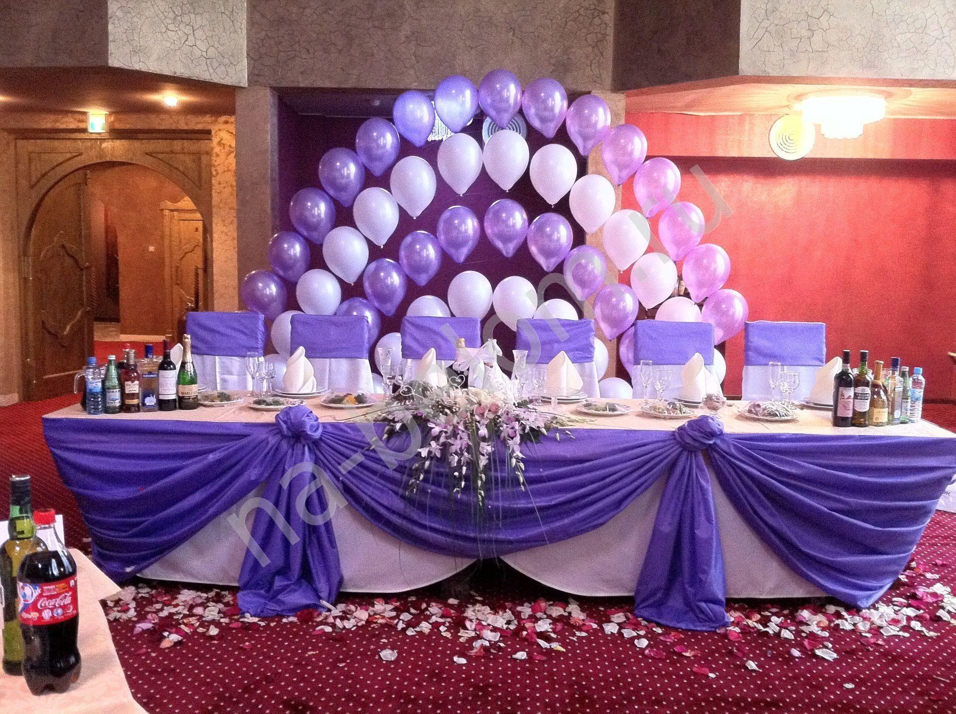 Украшаем свадебный зал своими руками с шарами