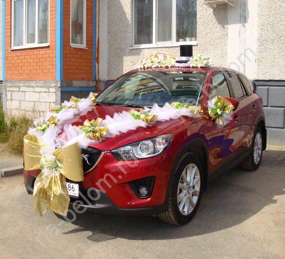Диадема на машину невесты
